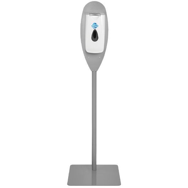 pole stand for flip top dispenser