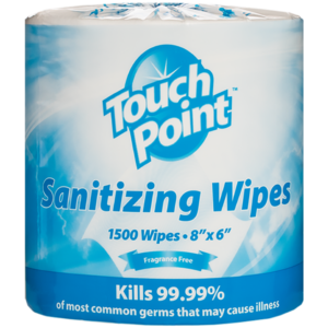 Fragrance Free Sanitizing Wipes 1500 - Touch Point